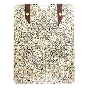 Printed Leather White Lace Case For iPad - bags & purses