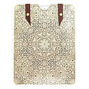Printed Leather White Lace Case For iPad