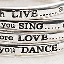 Live, Love, Sing, Dance Bangles