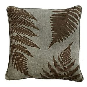 Copper Fern Cushion - cushions