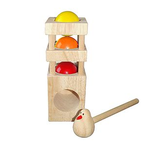 Ball Pounding Tower - traditional wooden toys