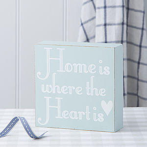 Home Is Where The Heart Is Square Block - gifts for the home
