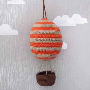 Hand Crochet Hot Air Balloon Hanging