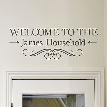 'Welcome' Vinyl Wall Sticker