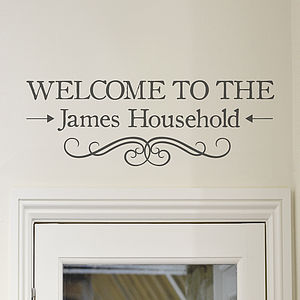 'Welcome' Vinyl Wall Sticker - wall stickers