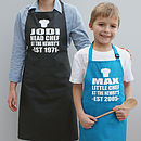 Personalised Mummy And Me Apron Set