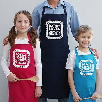 Personalised 'Love Cooking With Daddy' Aprons