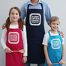 Personalised 'Love Cooking With Daddy' Apron Set