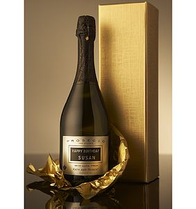 Personalised Prosecco - christmas delivery gifts for him