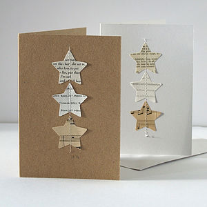 Handmade Personalised Star Card