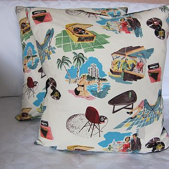 Retro 50's Cushion Cover