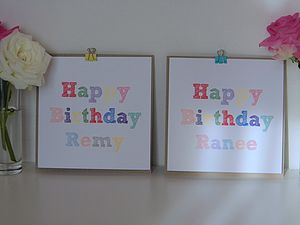 Colourful Personalised Birthday Card