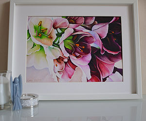 Fine Art Giclee Print Of Pink Flowers