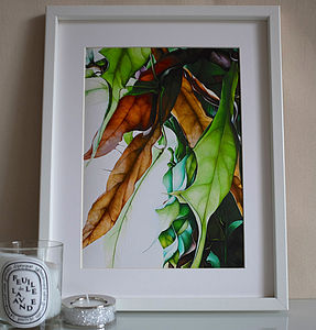 Fine Art Giclee Print Of Falling Leaves