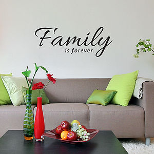 Family Is Forever Wall Sticker - bedroom