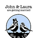 Vintage Birds Save The Date Cards
