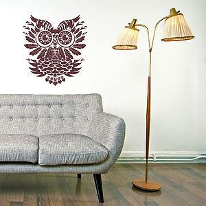 Tribal Owl Wall Sticker
