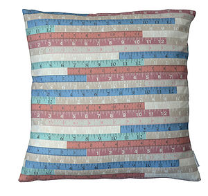 Tape Measures Feather Cushion