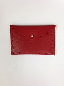 Queen Of Hearts Handmade Leather Cardholder