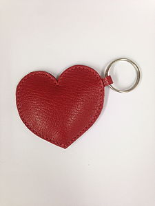 Queen Of Hearts Handmade Leather Keyring