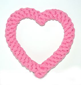 Heart Rope Dog Toy - dogs