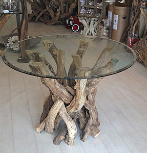 Driftwood Round Dining Table - furniture