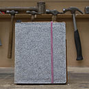 iPad Case In Stone Grey/White