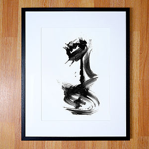 Abstract Art   Black And White Giclee Print - posters & prints