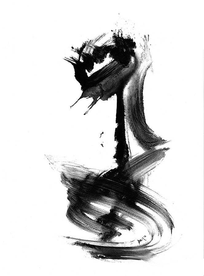 Abstract art black and white giclee print