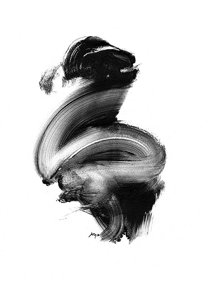 Black and white abstract art giclee print