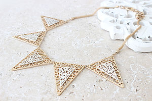 Cutwork Triangle Necklace