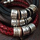 Vintage Leather And Silver Story Bracelet