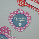 Personalised Paw Print Pet Id Tags