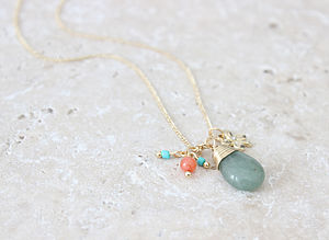 Jade Charm Necklace - spring brights