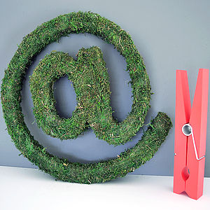 Large Real Moss Decorative At Sign - home accessories