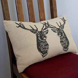 Stag Duo Handmade Cushion - cushions