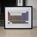 Sci Fi Films Periodic Table Art Print