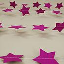 Warm Lilac Stars Paper Garland