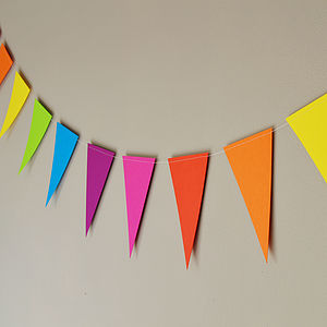 Rainbow Paper Bunting - children's room