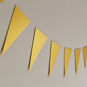Gold Shimmer Paper Bunting - room decorations