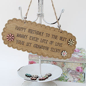 Personalised Birthday Message Sign - shop by price