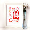 Personalised 'No Place Like Home' New Home Print