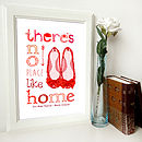 Personalised 'No Place Like Home' Print