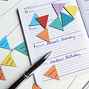 Birthday Calendar Extra Bunting Magnets