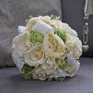 Jean Silk Flower Bridal Bouquet - home accessories