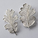 Silver Oak Leaf Brooch