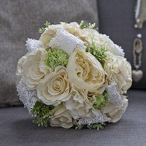 Bespoke Silk Flower Bridal Bouquet - flowers & plants