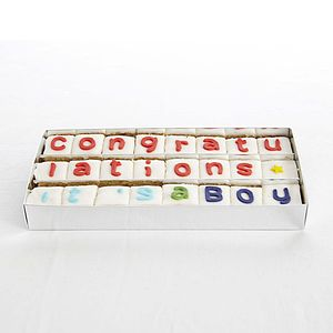Personalised Handmade Say It With Cake - sweet treats
