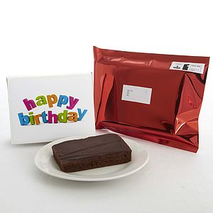 Happy Birthday Cake Card - sweet food gifts