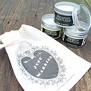 Just Married Gift Bag With Candles